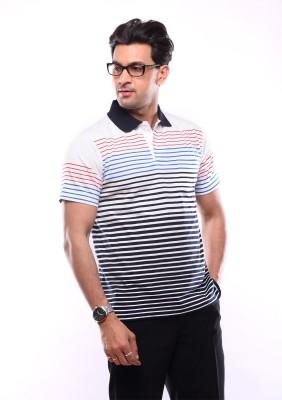SHAYAN EXPORT Striped Men's Polo Neck Multicolor T-Shirt