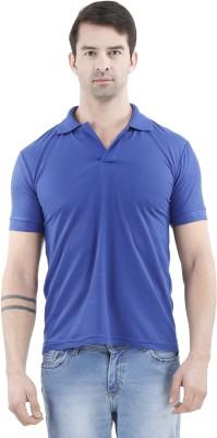 Tej Star Solid Men's Polo Neck Light Blue T-Shirt