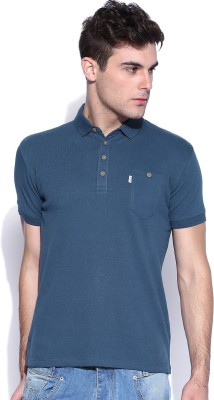 883 Police Solid Men's Polo Neck Grey T-Shirt