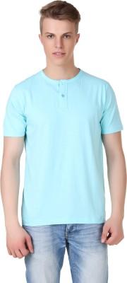 Aventura Outfitters Solid Men's Henley Light Blue T-Shirt