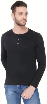 Dennis Lingo Solid Men's Round Neck Black T-Shirt