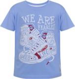 UFO Printed Men's Round Neck Blue T-Shir...