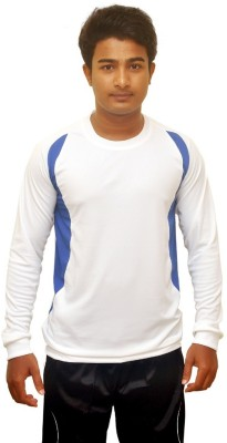 Dyed Colors Solid Men's Round Neck White T-Shirt