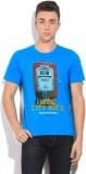 Izod Printed Men's Round Neck Blue T-Shi...