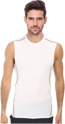 Smart look 7 Solid Men's Round Neck White T-Shirt