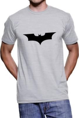 FOCECO Printed Boy,s, Men's Round Neck Grey T-Shirt