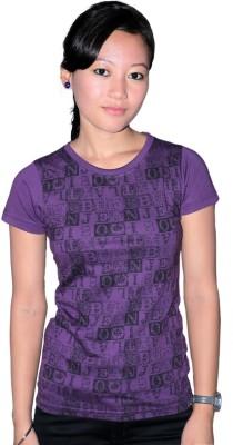 KRISHBAN Printed Girl's Round Neck T-Shirt
