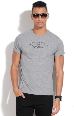 Pepe Solid Men's Round Neck T-Shirt