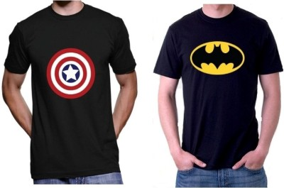Sprat Graphic Print Men's Round Neck Black, Black T-Shirt