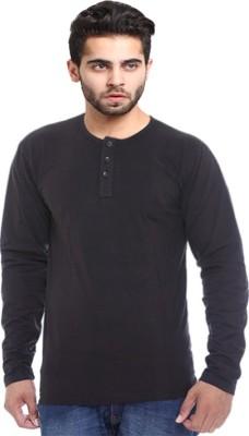 X-Cross Solid Men's Round Neck Black T-Shirt