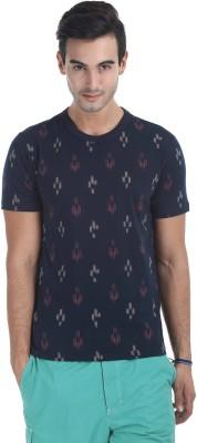 Zobello Printed Men's Round Neck Multicolor T-Shirt