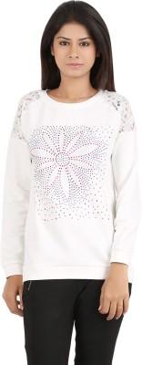 MA Printed Women's Round Neck White T-Shirt