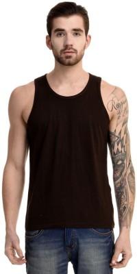 Mimoda Solid Men's Round Neck Brown T-Shirt