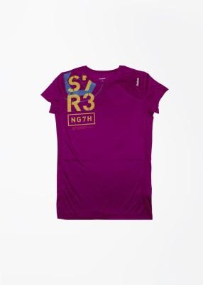 Reebok T- shirt For Boys & Girls(Purple, Pack of 1)