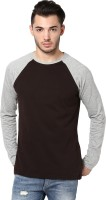 Izinc Solid Men's Round Neck Brown T-Shirt