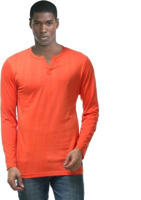 Hemd London Solid Men's Henley Orange T-Shirt