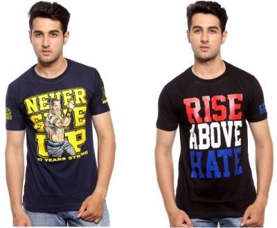 Trendmakerz Graphic Print Men's Round Neck Blue, Black T-Shirt