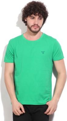 Gant Solid Men's Round Neck Green T-Shirt
