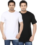 Ben Carter Solid Men's Round Neck Black,...