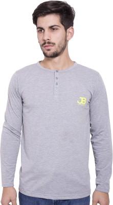 Jangoboy Solid Men's Round Neck Grey T-Shirt