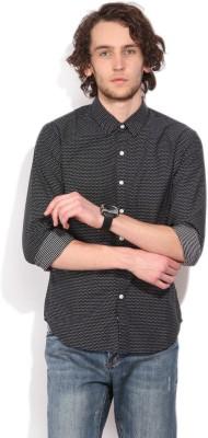 Levis Mens Self Design Casual Black Shirt