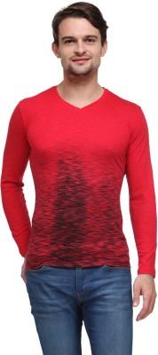 Flippd Printed Men's V-neck Red T-Shirt