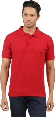 fashion4u Solid Men's Polo Neck Red T-Shirt