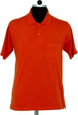 Adobe Solid Men's Flap Collar Neck T-Shirt