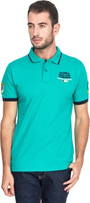 T-Base Solid Men's Polo Neck Green T-Shirt