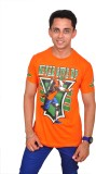 Altitude Printed Men's Round Neck Orange...