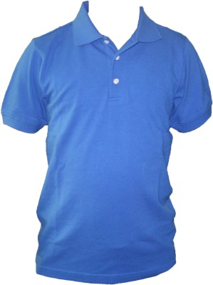 T10 Sports Solid Boy's Polo Neck Blue T-Shirt