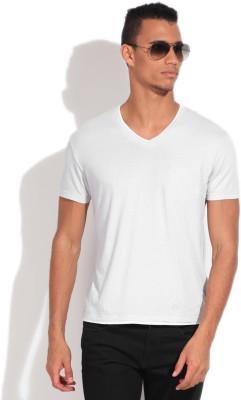 GAS Solid Men's V-neck Grey T-Shirt
