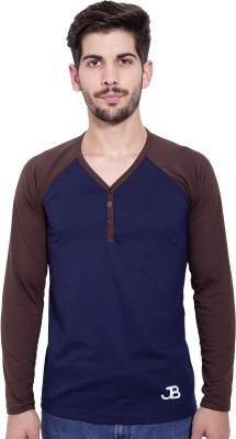 Jangoboy Solid Men's V-neck T-Shirt