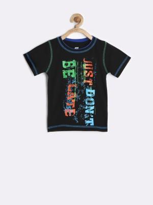Yellow Kite Printed Boy's Round Neck T-Shirt
