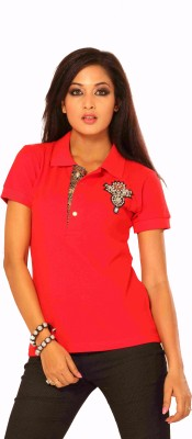 INNK Embroidered Women's Polo Neck T-Shirt