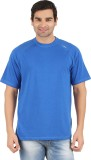 Lavos Solid Men's Round Neck Blue T-Shir...