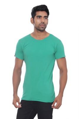 Pezzava Self Design Men's Round Neck Reversible Green, Grey T-Shirt