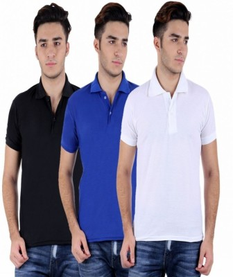 Christy World Solid Men's Polo Neck Multicolor T-Shirt