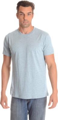 Comfty Solid Men's Round Neck Grey T-Shirt