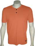 Cool Club Solid Men's Henley Orange T-Sh...