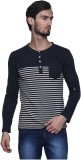 Era of Attitude Printed Men's Henley Bla...