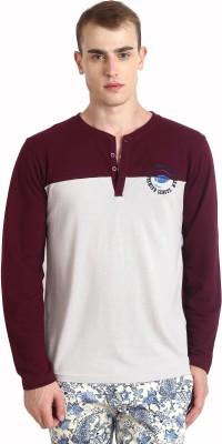 Teen Tees Solid Men,s Polo Grey, Maroon T-Shirt
