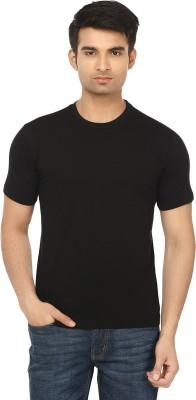 Himgiri Solid Men's Round Neck Black T-Shirt