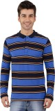 Nick & Jess Striped Men's Polo Neck Blue...