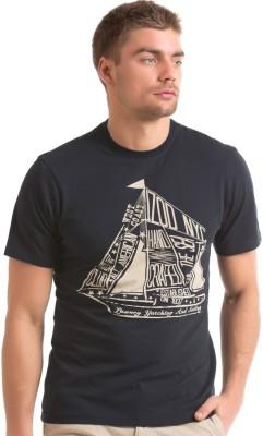 Izod Solid Men's Round Neck Blue T-Shirt