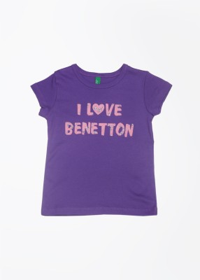 United Colors of Benetton Printed Girl's Round Neck T-Shirt