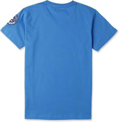 London Fog Striped Boy's V-neck Blue T-Shirt