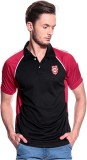 T10 Sports Solid Men's Polo Neck Black T...