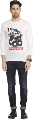 Cali Republic Printed Men's Round Neck White, Black, Red T-Shirt