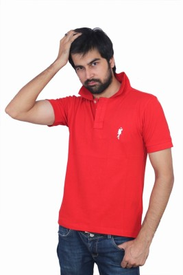 The Casanova Solid Men's Polo Red T-Shirt